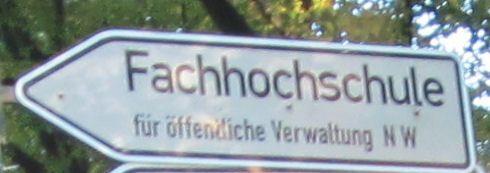 Fachhochschule Für öffentliche Verwaltung Nordrhein Westfalen