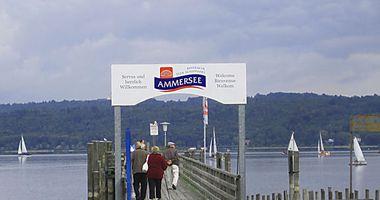 Bayerische Seenschifffahrt Ammersee in Stegen Gemeinde Inning