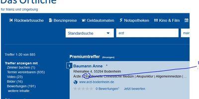 Baumann Anne Ärztin für Allgemeinmedizin in Bodenheim am Rhein