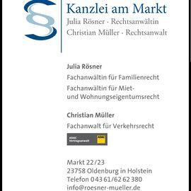 Rösner / Müller Kanzlei am Markt Rechtsanwälte in Oldenburg in Holstein