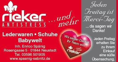 Spänig RIEKER und mehr... Schuheinzelhandel , Schuhe, Lederwaren u. Babyartikel in Neustadt in Sachsen