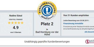VON POLL FINANCE Baufinanzierung unabhängig aus 400 Banken! in Bad Homburg vor der Höhe