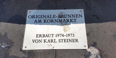 Der Originale-Brunnen am Kornmarkt in Bad Kreuznach