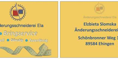 Änderungsschneiderei Ela in Ehingen an der Donau