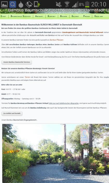 Bambus Baumschule Ulrich Willumeit 17 Bewertungen Eberstadt