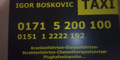 Boskovic Igor Taxi in Lüdenscheid