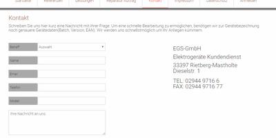 E.G.S. Elektro Geräte Kundendienst GmbH in Mastholte Stadt Rietberg