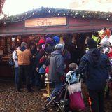 Weihnachtsmarkt Giebel erstrahlen im Licht in Lüneburg in Lüneburg