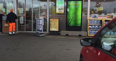 Shell Station mit CNG in Lengerich in Westfalen