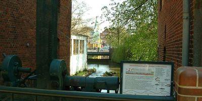 Fischtreppe an der Delme - Graftstau in Delmenhorst