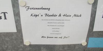 Ferienwohnung Kapt'n Blaubär und Hein Mück in Dangast Stadt Varel