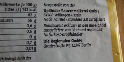 Upländer Bauernmolkerei GmbH in Usseln Gemeinde Willingen (Upland)