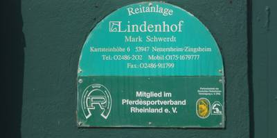 Reitanlage Lindenhof in Zingsheim Gemeinde Nettersheim
