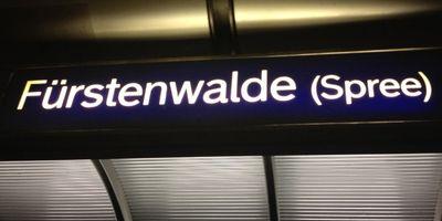 Bahnhof Fürstenwalde (Spree) in Fürstenwalde an der Spree