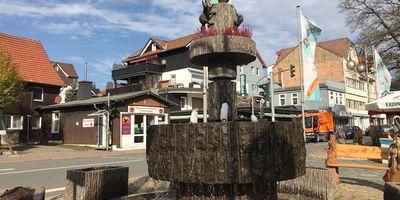 Eichhörnchenbrunnen in Braunlage