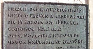 Synagogendenkmal am Alten Rathaus in Haltern am See