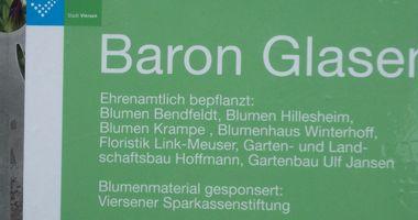 florale Skulptur Baron von Glasenapp in Viersen