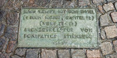 Jakob kämpft mit dem Engel - Jakobsbrunnen von Bonifatius Stirnberg in Viersen