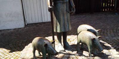 Freckyo der Schweinehirt Denkmal in Warendorf