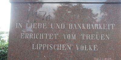 Leopold IV. Denkmal (Im Schlosspark) in Detmold