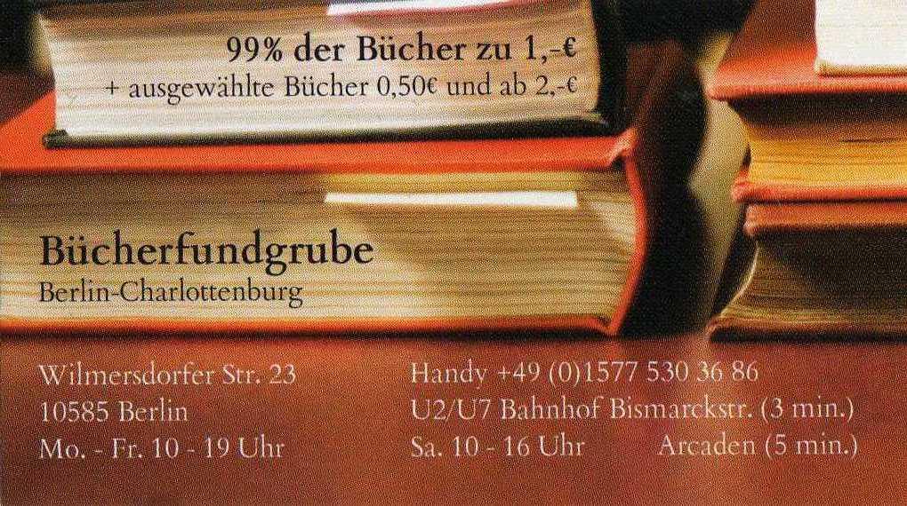 Bücherfundgrube Berlin 10585 Berlin Charlottenburg