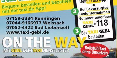 Taxiverbund Gebl & Sauer in Renningen