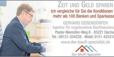 Der BAUFI Spezialist, Gerhard Geißendörfer, Agentur für ungebundene Baufinanzierungs-Beratung in Dachau