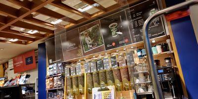 Tchibo Filiale mit Kaffee Bar in Haan im Rheinland