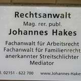 Hakes Johannes Mag.Rer.Publ. Rechtsanwalt Rechtsanwälte Mediation in Krefeld
