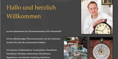 Uhrmachermeister Felix Wüstenfeld in Aschaffenburg