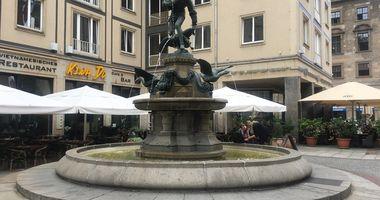 Gänsediebbrunnen in Dresden