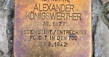 Stolperstein Alexander Königswerther in Berlin