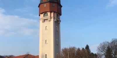 Wasserturm in Freiberg in Sachsen