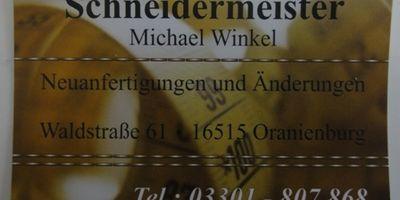Winkel Michael Schneidermeister in Oranienburg