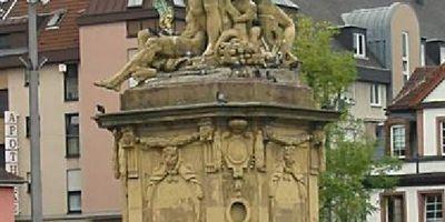 Marktplatzbrunnen in Mannheim