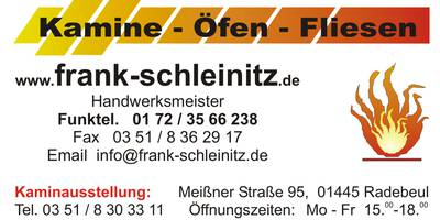 Frank Schleinitz Kamine-Öfen-Fliesen in Radebeul