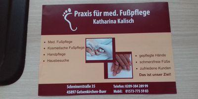 Praxis für Medizinische Fußpflege Katharina Kalisch Fußpflege in Gelsenkirchen
