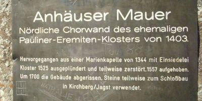 Anhäuser Mauer (Kloster Ruine) in Satteldorf