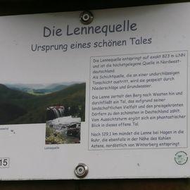 Lennequelle in Winterberg in Westfalen