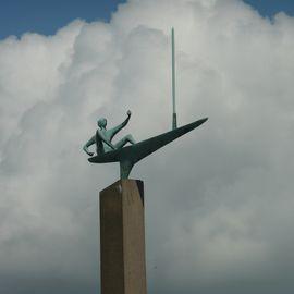 Skulptur Segler in Kiel