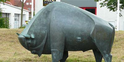 Wisent-Skulptur in Rendsburg