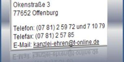 Sachs Gerd , Ehren Edwin Rechtsanwälte in Offenburg