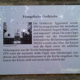Evangelische Dorfkirche Eggersdorf in Eggersdorf Gemeinde Petershagen-Eggersdorf