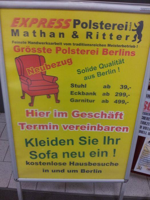Polsterei Berlin express polsterei gmbh 8 bewertungen berlin köpenick