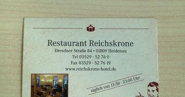 Hotel Reichskrone in Heidenau in Sachsen