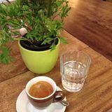 Cafe im Hinterhof in München