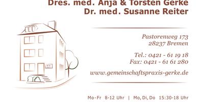 Hausärztliche Gemeinschaftspraxis Dres. med. Anja Gerke, Torsten Gerke und Susanne Reiter in Bremen