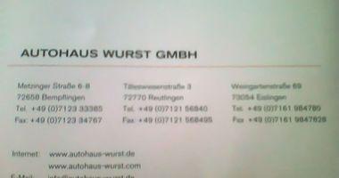 Autohaus Martin Wurst GmbH in Bempflingen
