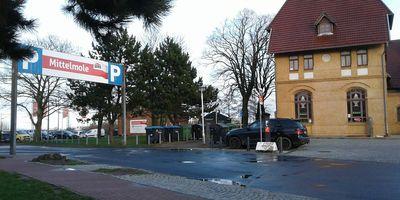 DB BahnPark Parkplatz Bahnhofsvorplatz P1 in Warnemünde Stadt Rostock