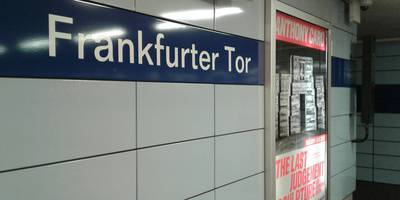 U-Bahnhof Frankfurter Tor in Berlin